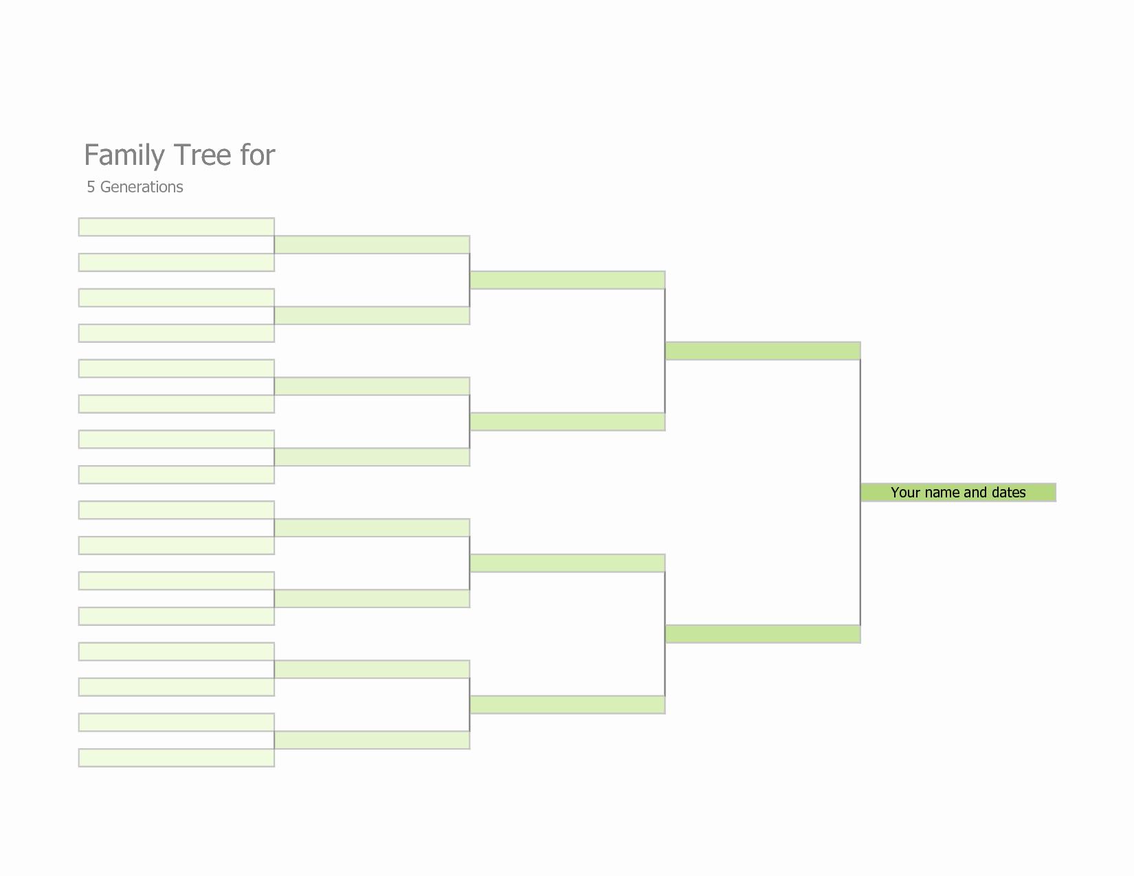 7 Generation Family Tree Template Beautiful Blank Family Tree Template
