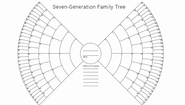 7 Generation Family Tree Template Elegant Family Tree Template