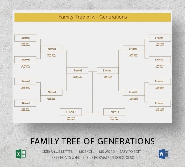 7 Generation Family Tree Template Luxury Blank Family Tree Template 32 Free Word Pdf Documents