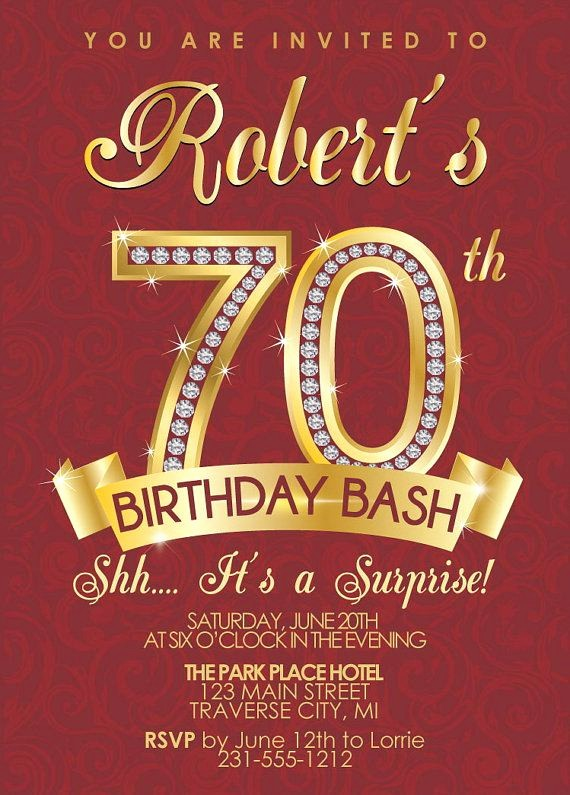 70th Birthday Invitation Templates Free Best Of 15 Invitations Design And Theme Ideas