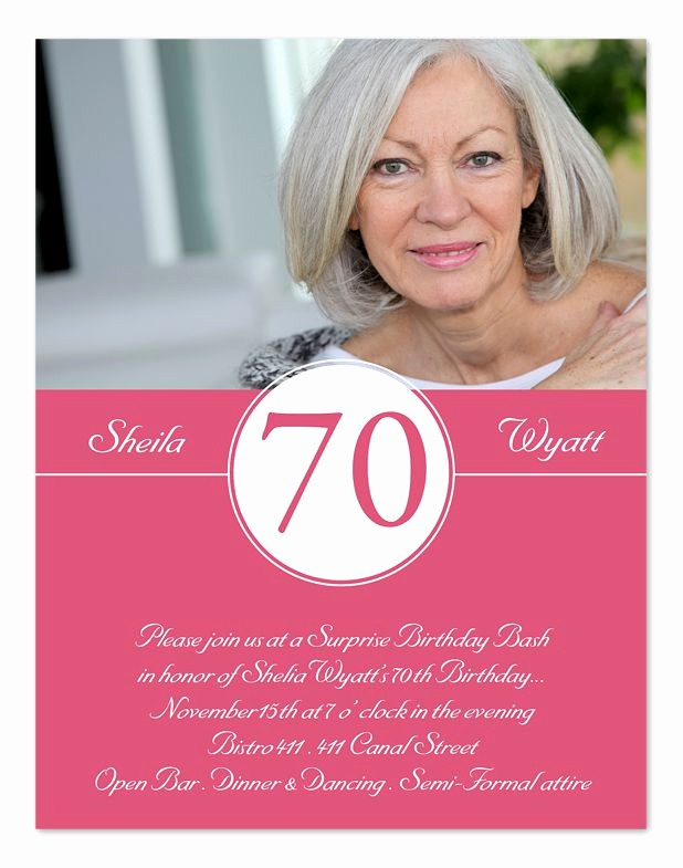 70th Birthday Invitation Templates Free Fresh 15 70th Birthday Invitations Design and theme Ideas
