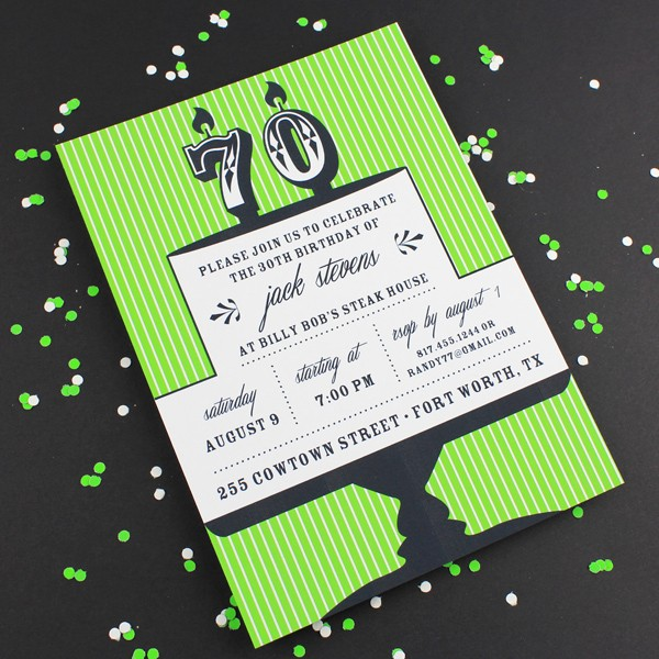 70th Birthday Invitation Templates Free Fresh Milestone Candle Birthday Invitation Template 70th