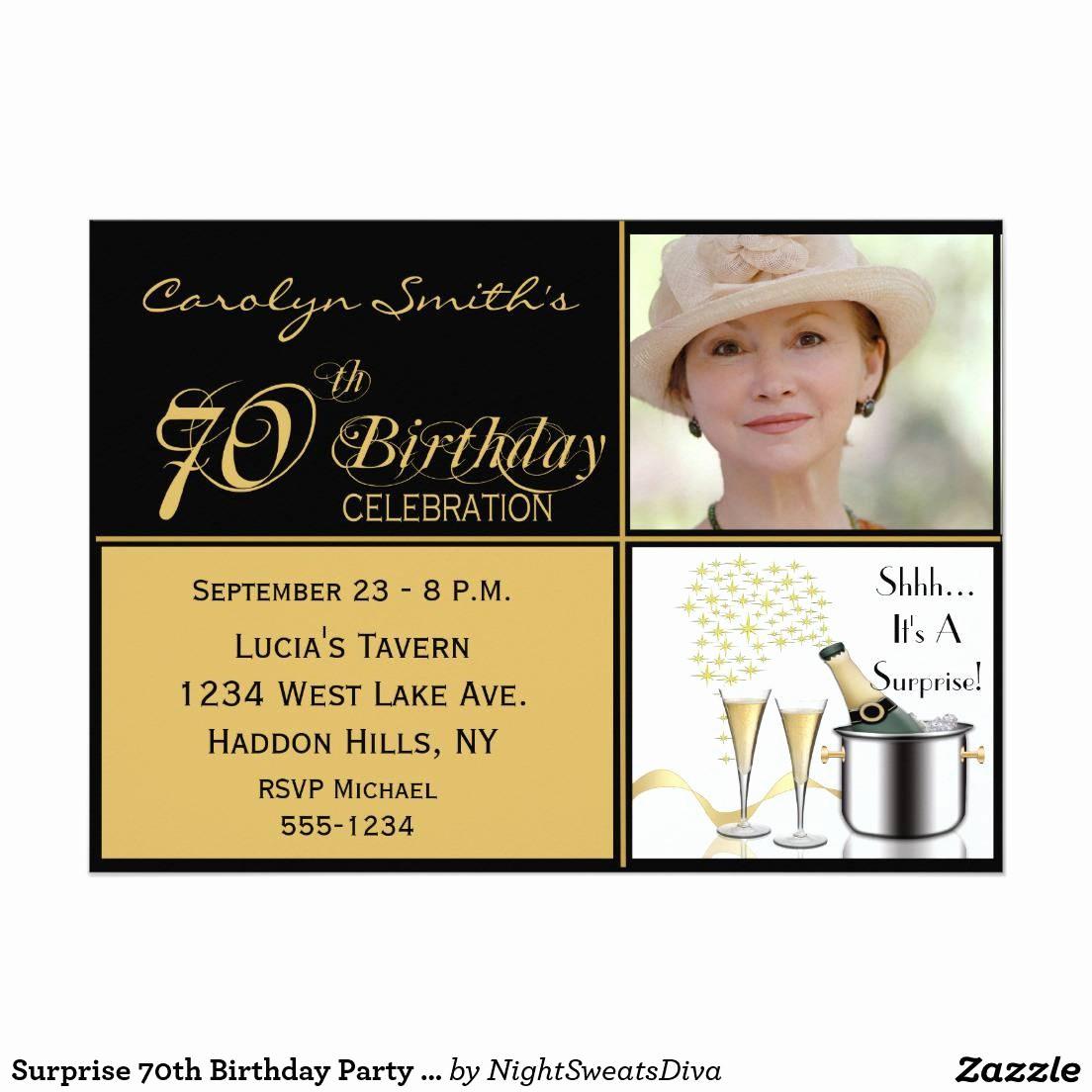 70th Birthday Invitation Templates Free Inspirational Party Invitations