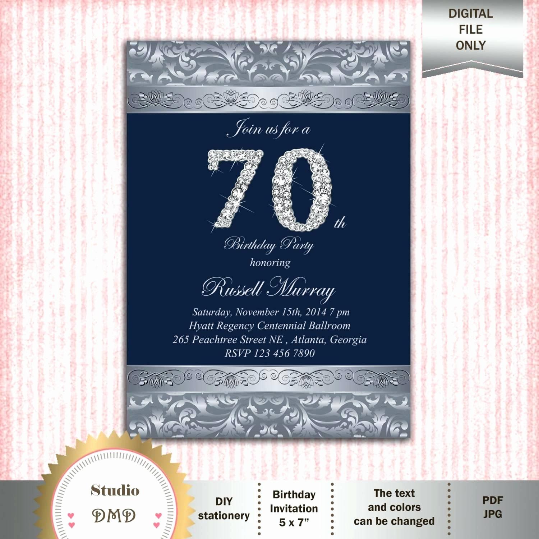 70th Birthday Invitation Templates Free Lovely Template 70th Birthday Invitation Template