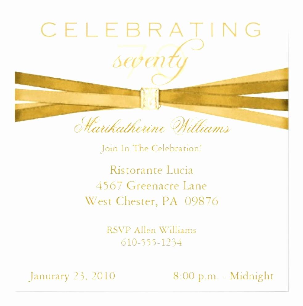 70th Birthday Invitation Templates Free New 9 Invitations Utqup