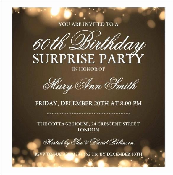 70th Birthday Invitation Templates Free New Surprise 70th Birthday Party Invitation Templates