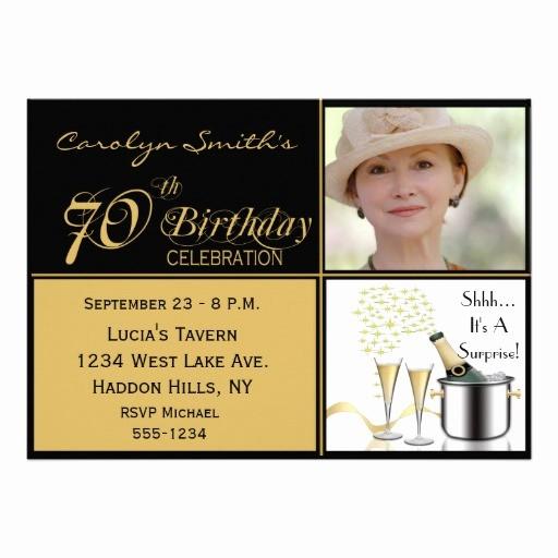 """70th Birthday Invitation Templates Free Unique Surprise 70th Birthday Party Invitations 5"""" X 7"""