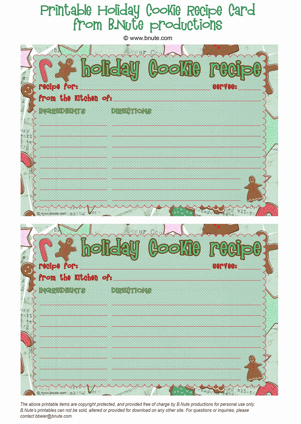 8.5 X 11 Recipe Template Awesome Holiday Party Gingerbread Decorating or Cookie Exchange Party