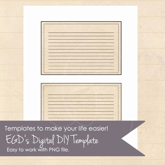 8.5 X 11 Recipe Template Awesome Instant Download Recipe Card Template 4x6 by
