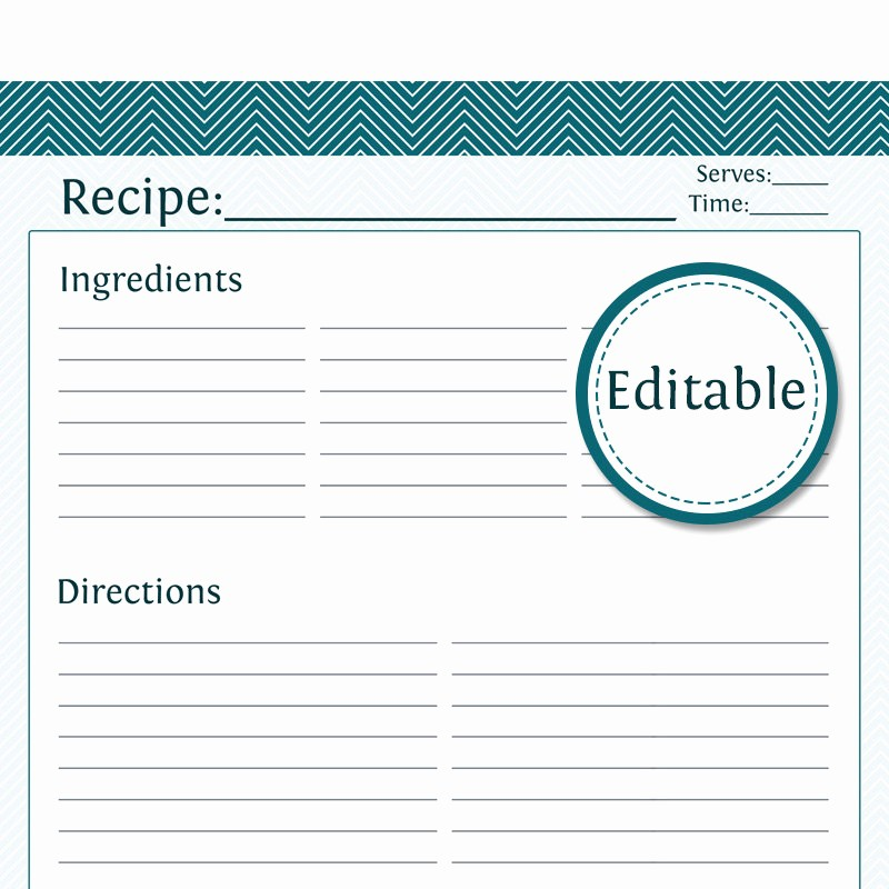 8.5 X 11 Recipe Template Beautiful 8 Best Of Full Page Printable Recipe Cards Free