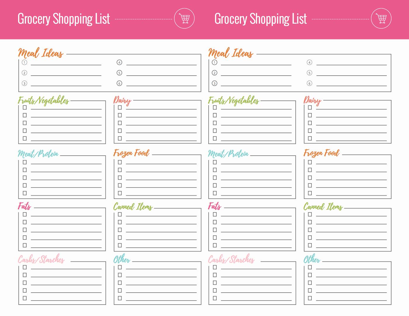 8.5 X 11 Recipe Template Best Of Free Grocery Shopping List Printables Lauren Gleisberg