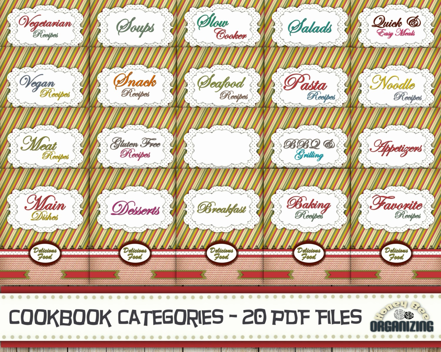 8.5 X 11 Recipe Template Best Of Recipe Book Binder Categories Kit Printable Cookbook