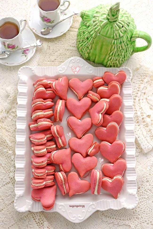 8.5 X 11 Recipe Template Elegant Love Heart Macarons – Sugarywinzy