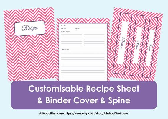 8.5 X 11 Recipe Template Fresh Make Your Own Personalised Printable Recipe Binder