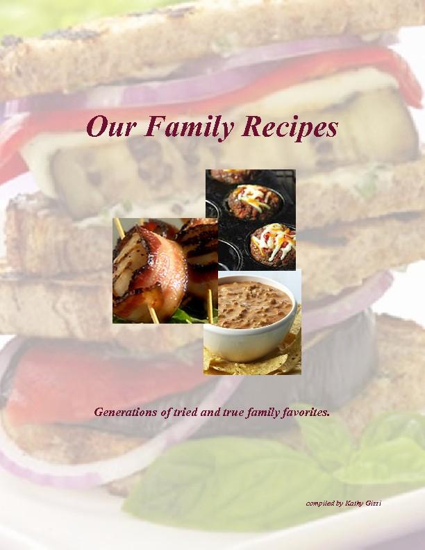 8.5 X 11 Recipe Template Fresh Our Family Recipes