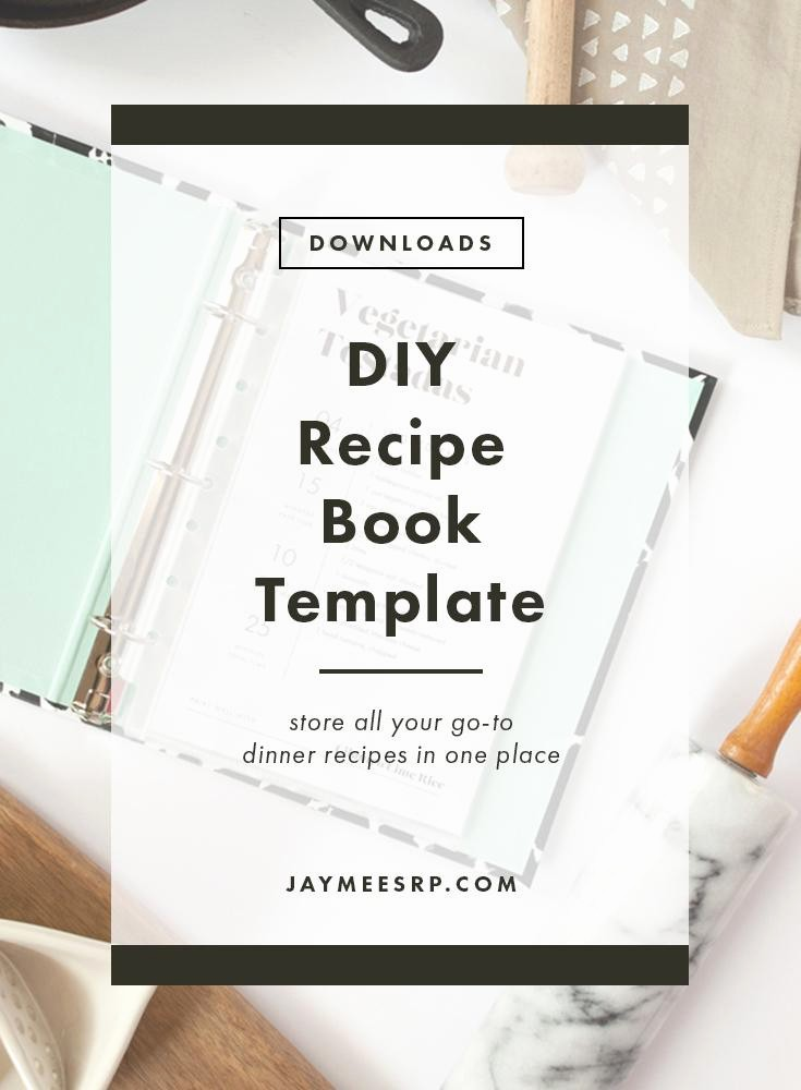 8.5 X 11 Recipe Template Lovely Simple Diy Recipe Book – Jaymee Srp