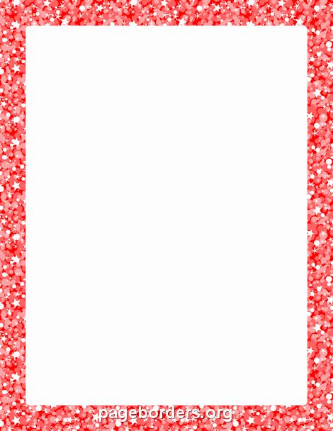 8.5 X 11 Recipe Template Unique Red Glitter Border Clip Art Page Border and Vector Graphics