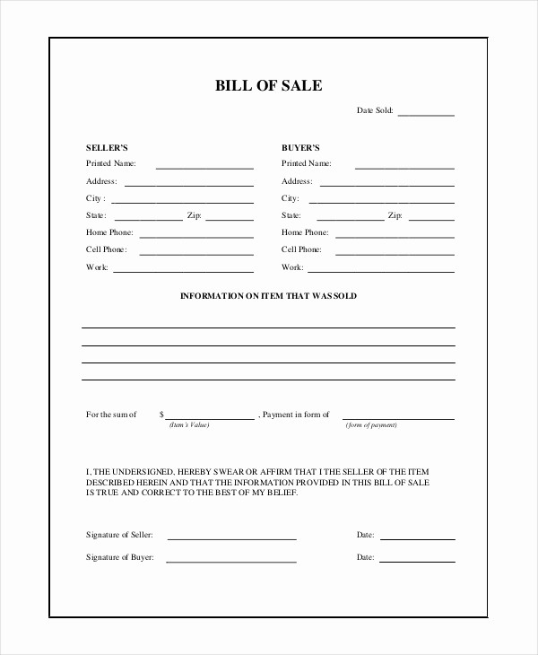 A Car Bill Of Sale New Alberta Used Car Bill Sale