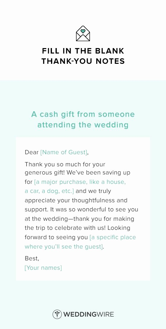 A Gift for You Template Awesome Wedding Thank You Note Template Thank You Note Template
