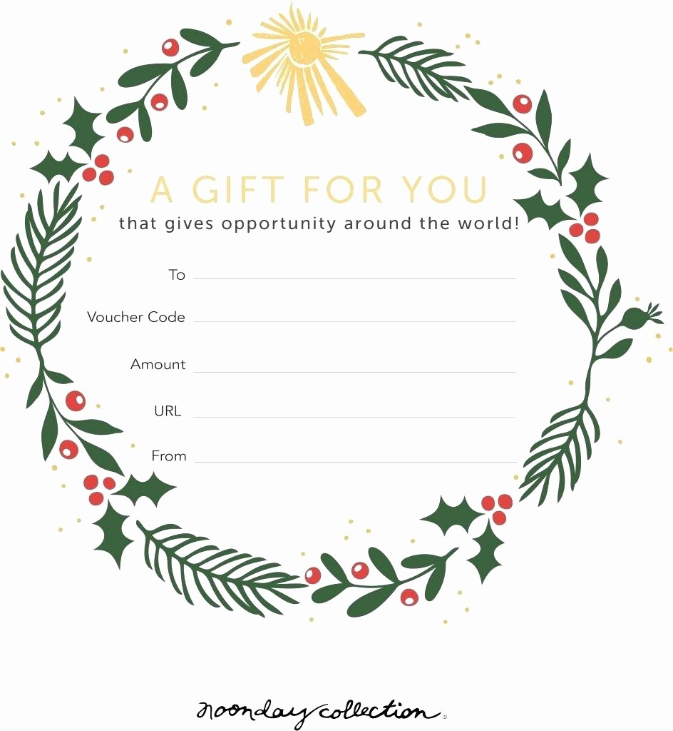 A Gift for You Template Beautiful Template Gift Cards Template