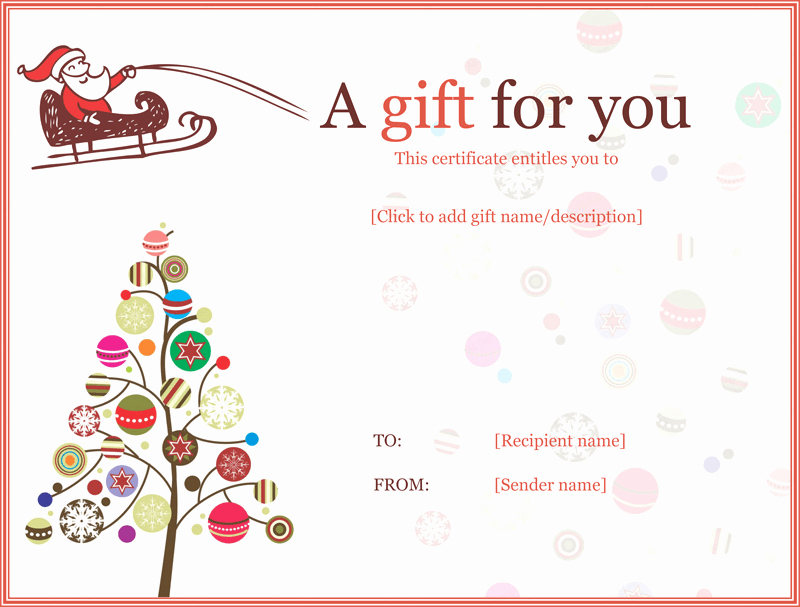 A Gift for You Template Best Of Gift Certificate Template for Kids Blanks