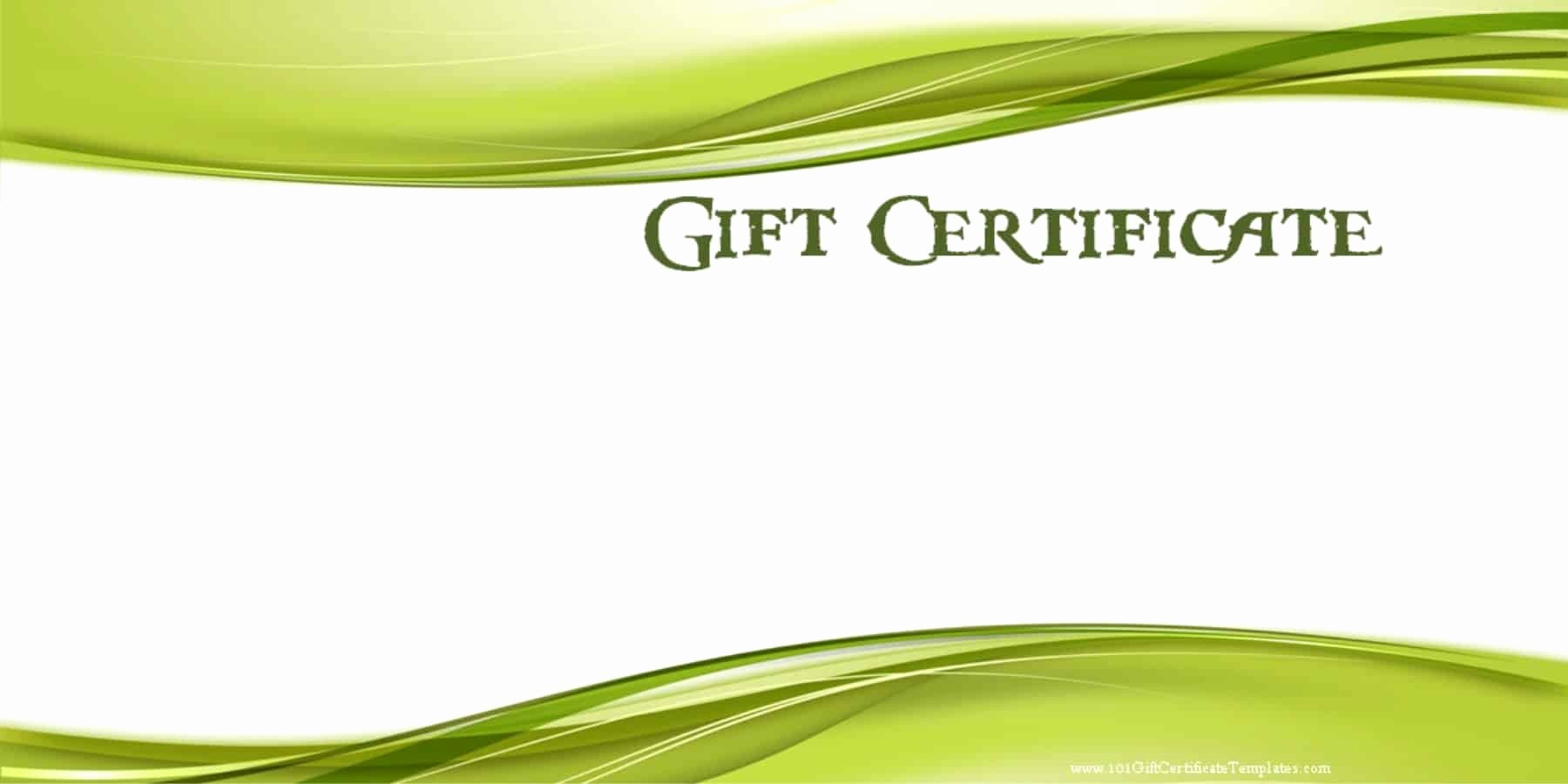 A Gift for You Template Best Of Printable Gift Certificate Templates