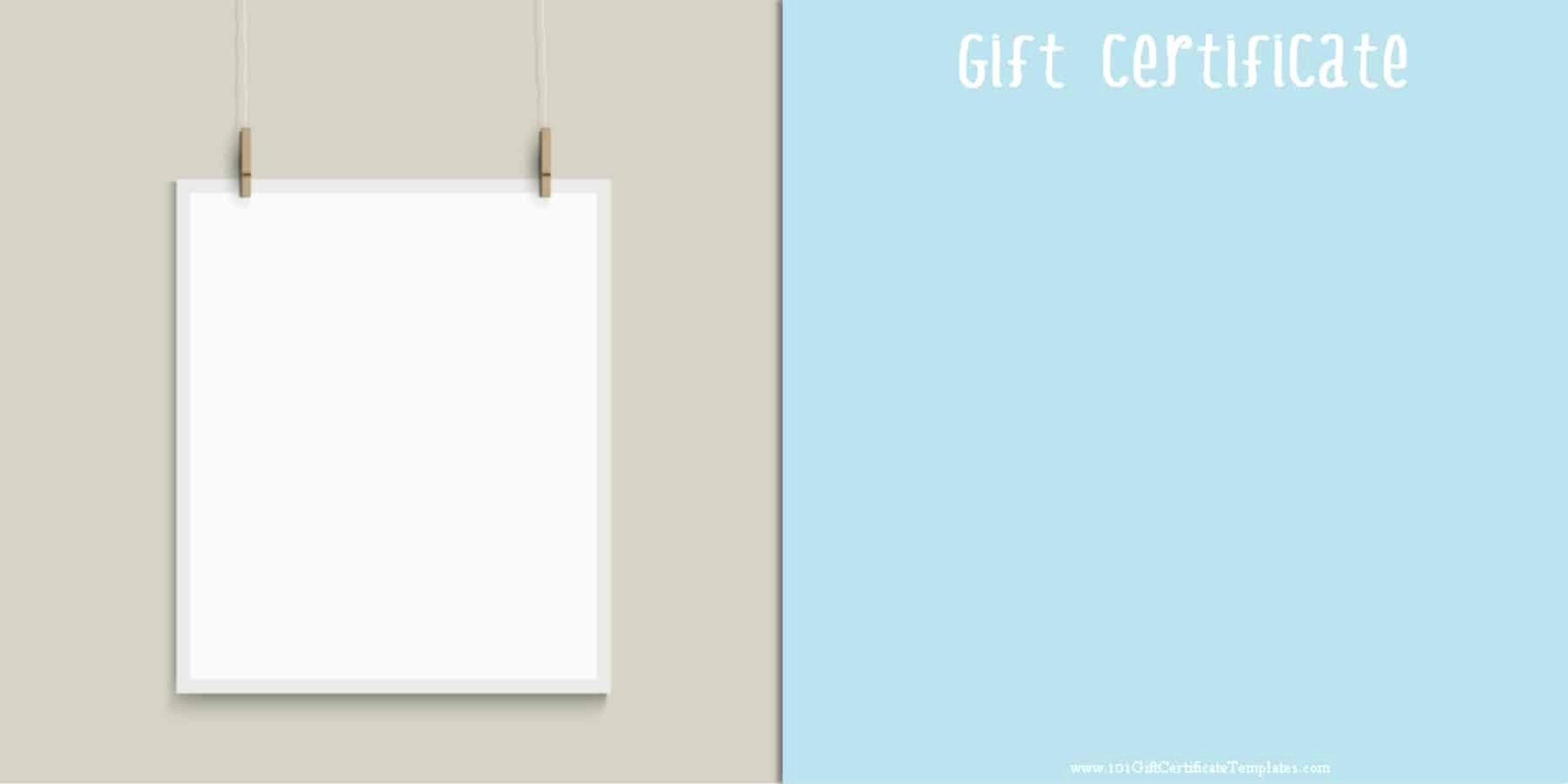 A Gift for You Template Elegant Printable Gift Certificate Templates