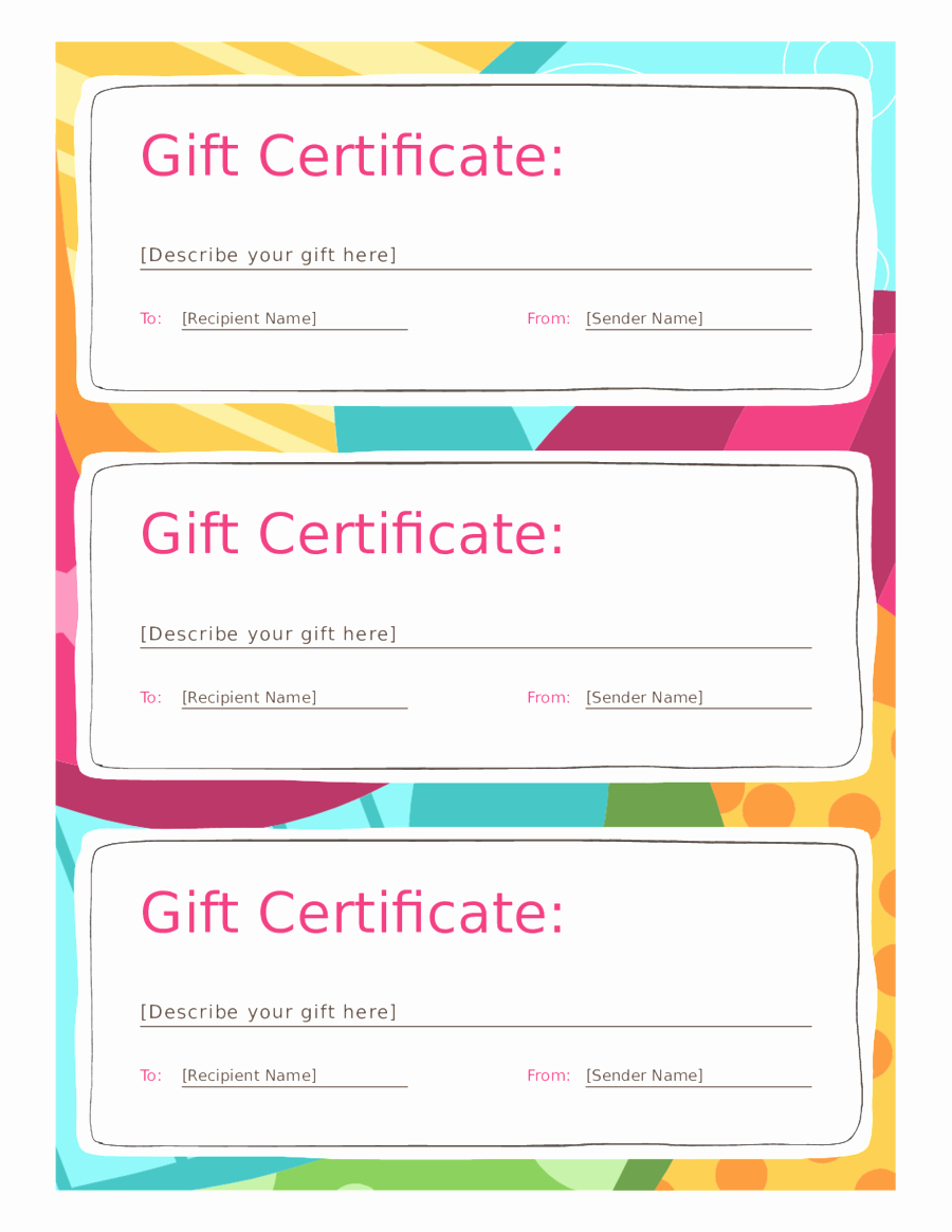 A Gift for You Template Fresh Blank Gift Certificate Template Mughals