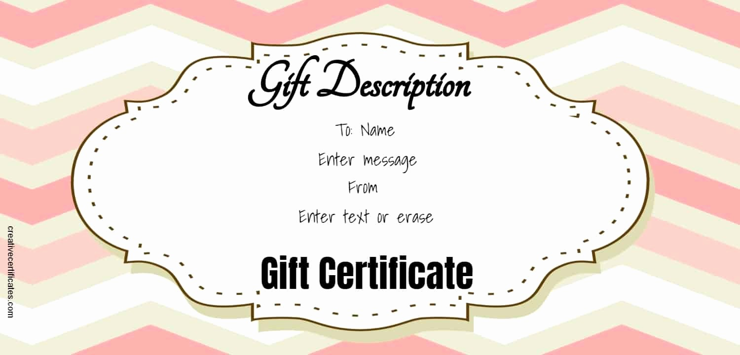 A Gift for You Template Inspirational Free Gift Certificate Template 50 Designs