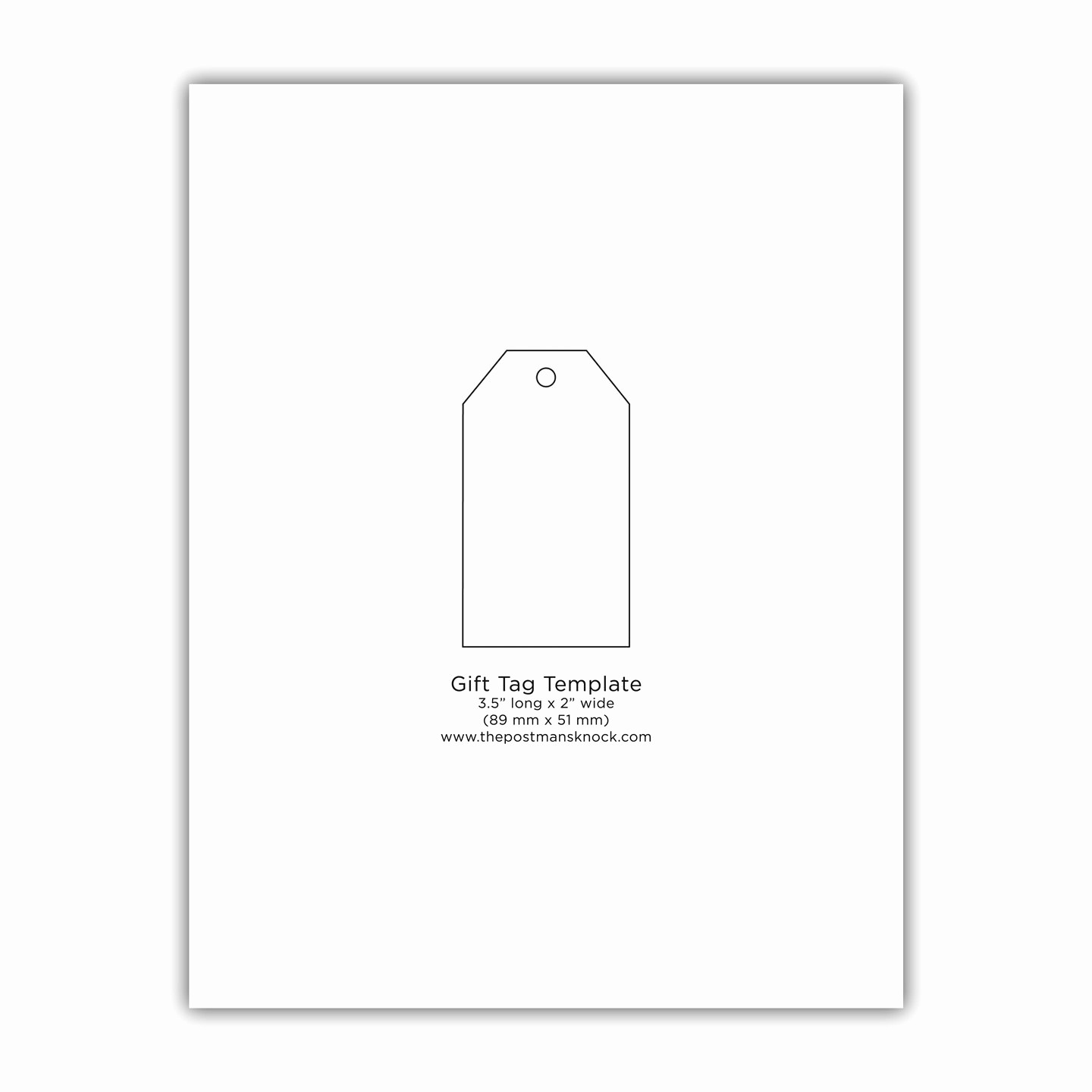 A Gift for You Template Lovely Printable Simple Gift Tag Template – the Postman S Knock