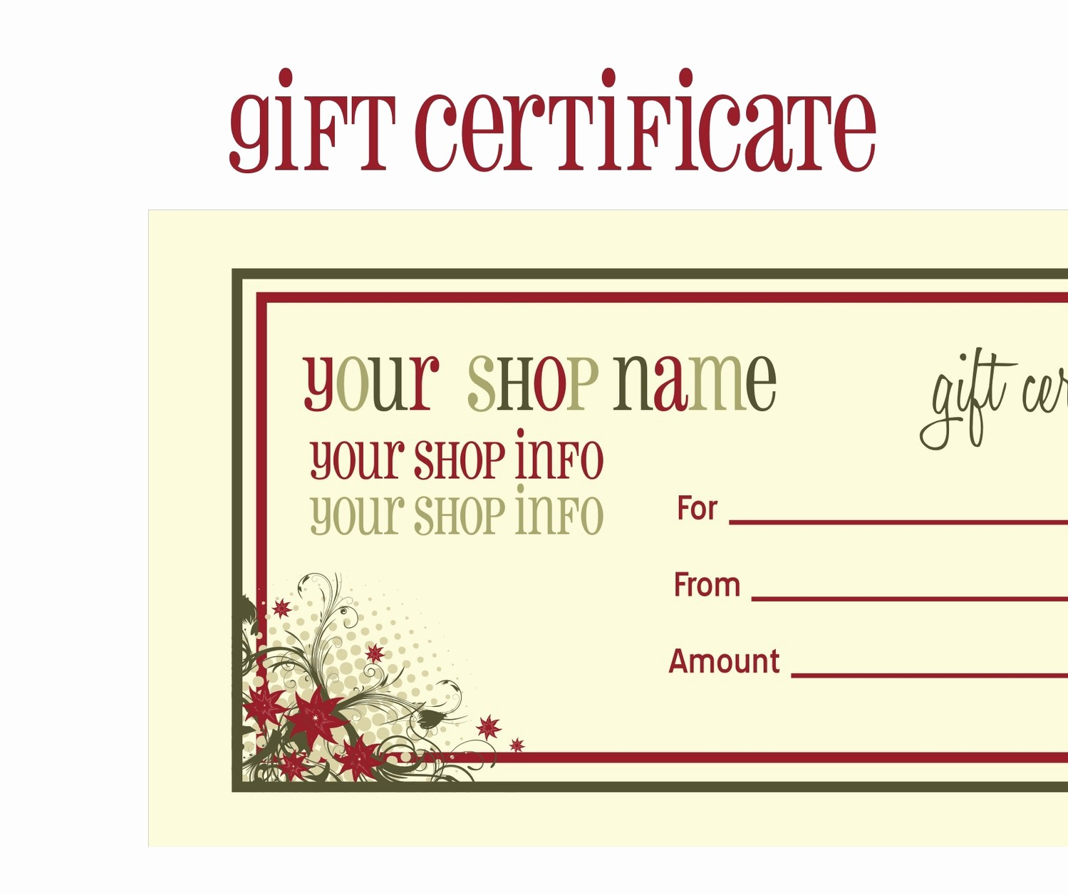 A Gift for You Template Luxury Certificate Template Category Page 1 Efoza