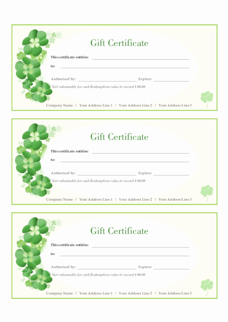 A Gift for You Template Luxury Gift Certificate Template Free Printable Gift Certificates