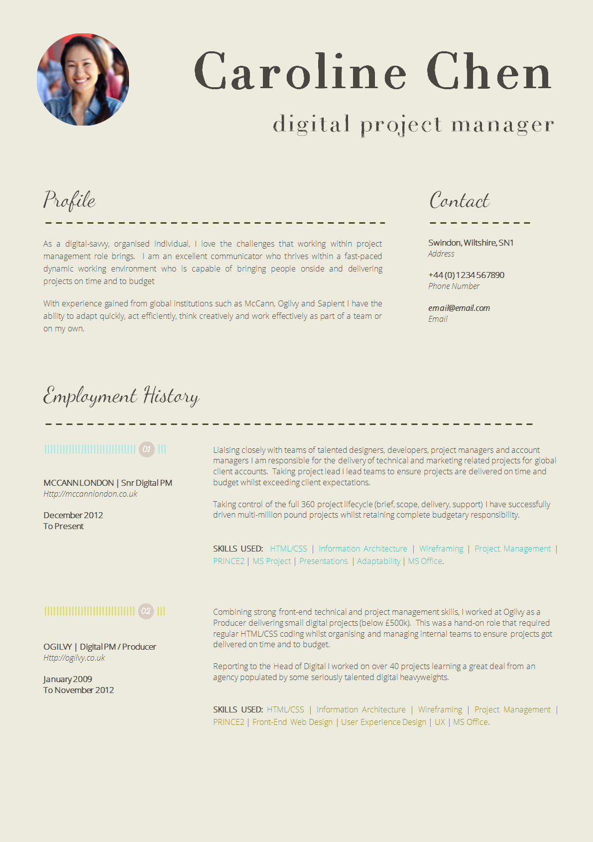 A Template for A Resume Inspirational 13 Slick and Highly Professional Cv Templates