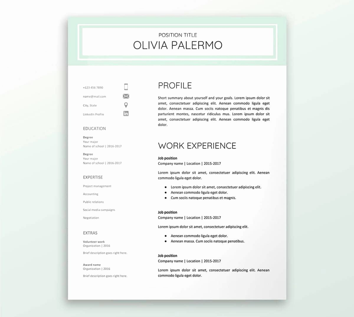 A Template for A Resume Lovely Google Docs Resume Templates 10 Examples to Download