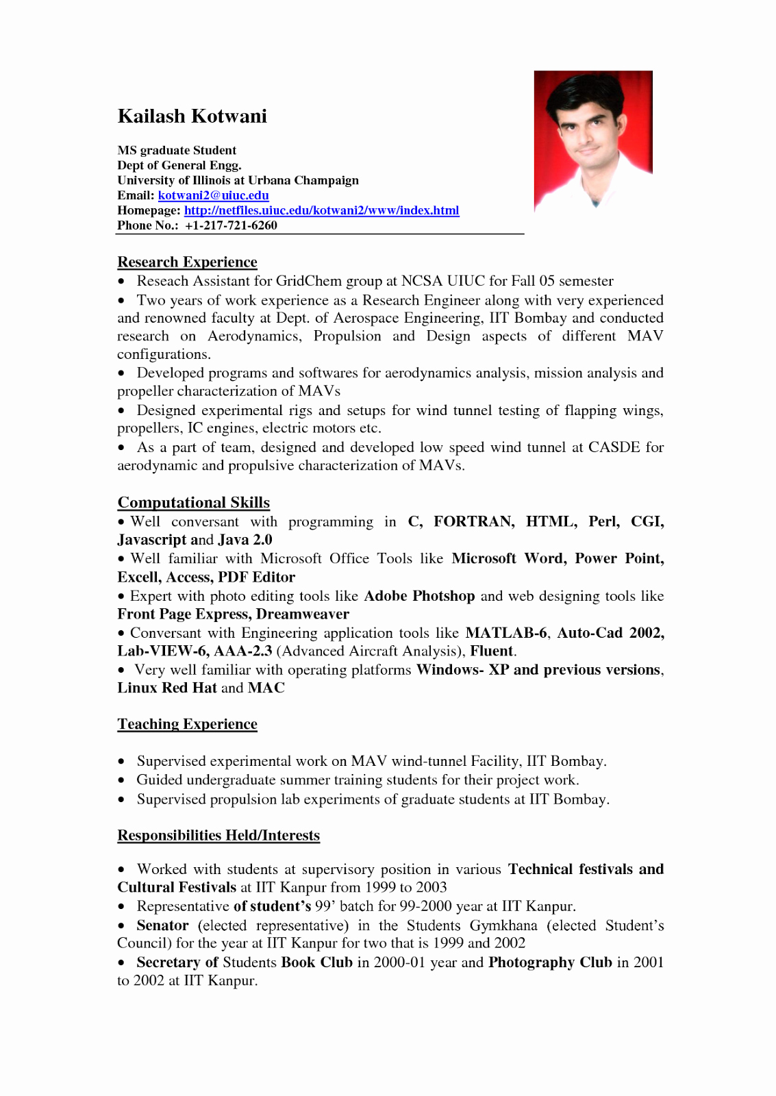 A Template for A Resume Luxury Standard Resume format for Experienced – Perfect Resume format