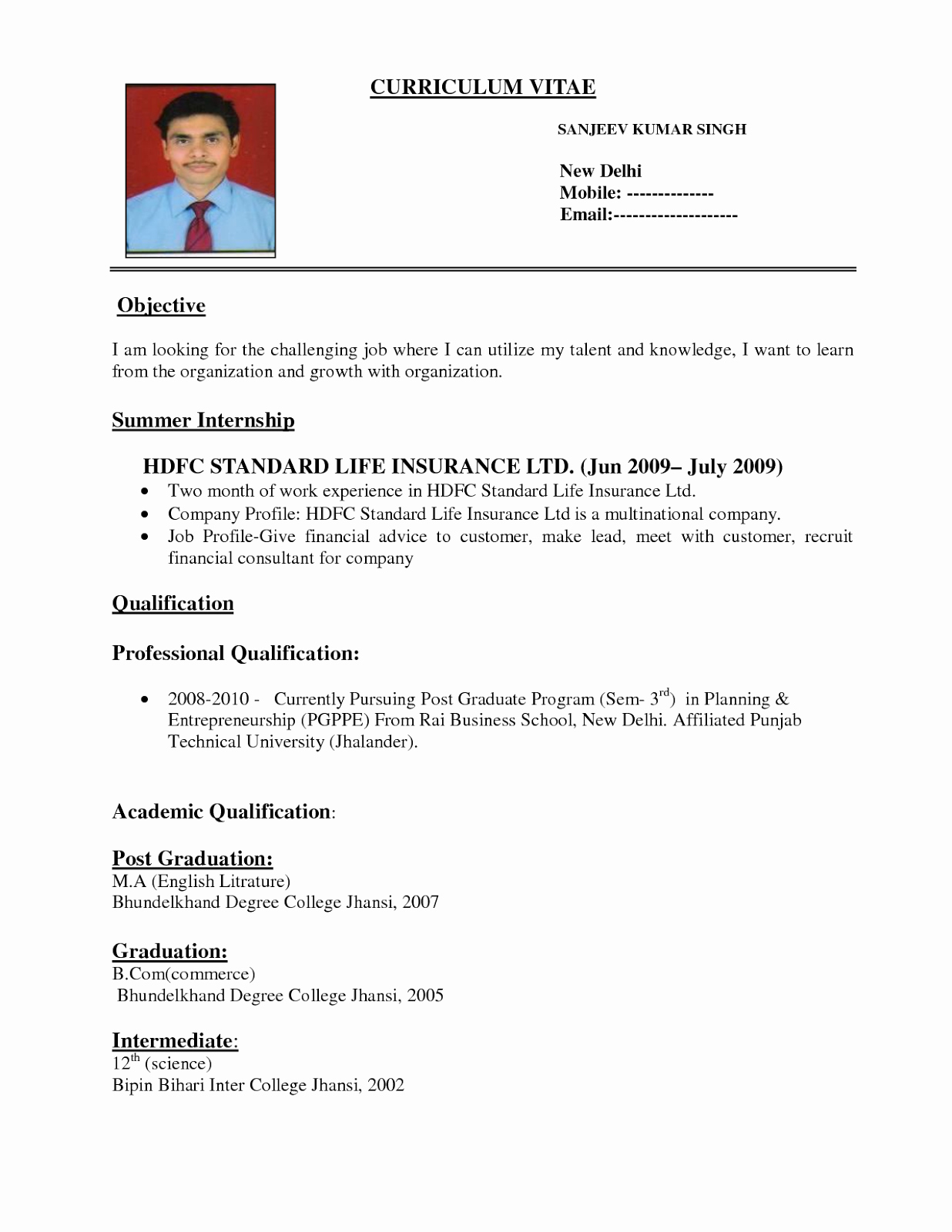 A Template for A Resume Luxury Varieties Resume Templates and Samples