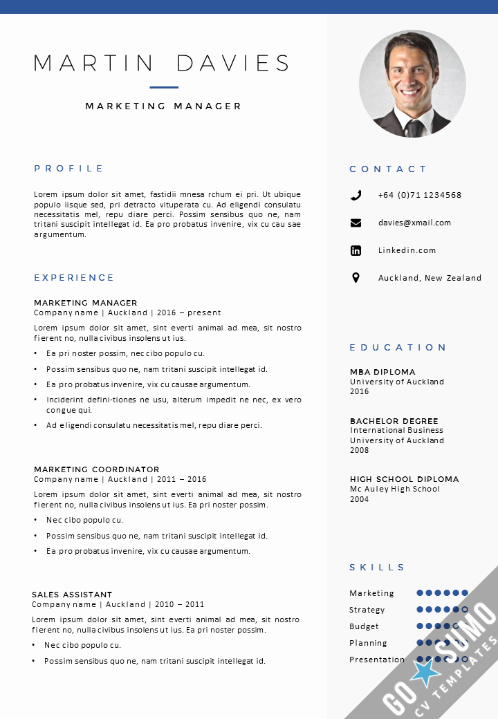 A Template for A Resume New where Can You Find A Cv Template