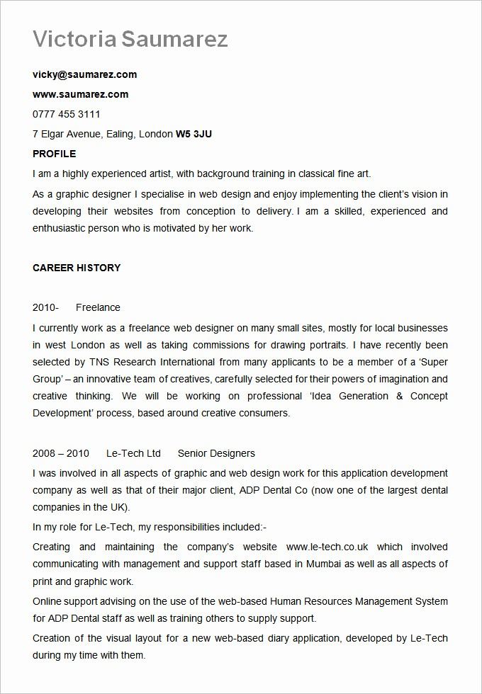 A Template for A Resume Unique Best Resume formats – 40 Free Samples Examples format