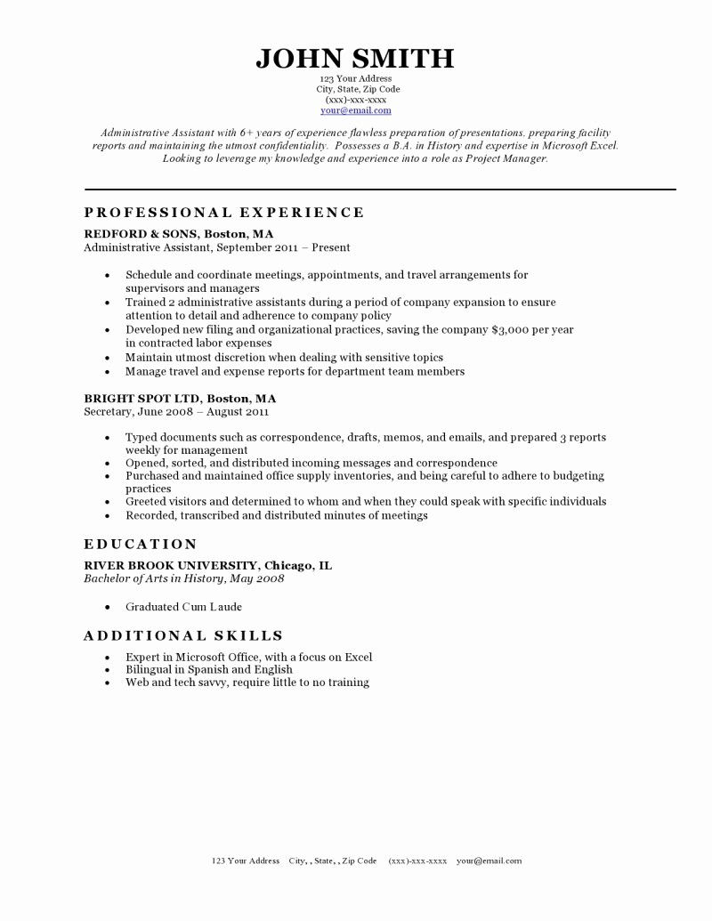 A Template for A Resume Unique Resume Templates Resume Cv