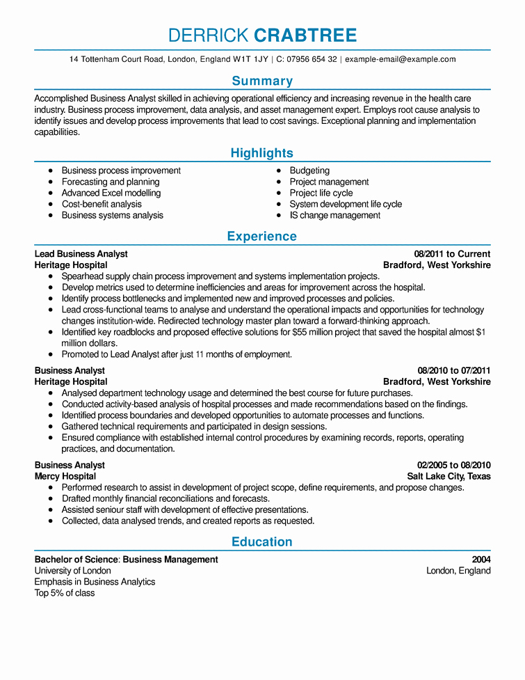 A Template for A Resume Unique Sample Resume Resume Cv Example Template