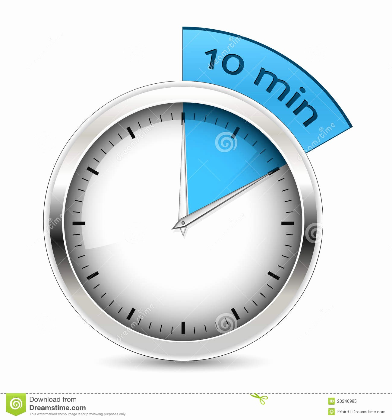 A Timer for 1 Minutes Beautiful 10 Minutes Timer Illustration Stock Vector