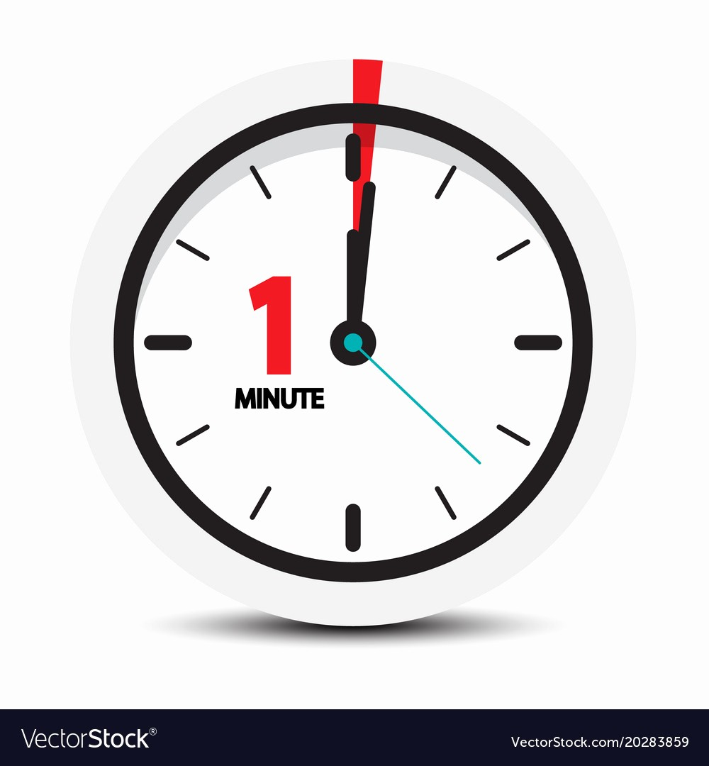 A Timer for 1 Minutes Best Of E Minute Clock Icon Royalty Free Vector Image