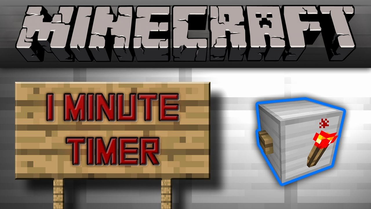 A Timer for 1 Minutes Best Of Minecraft Smallest 1 Minute Timer [tutorial]