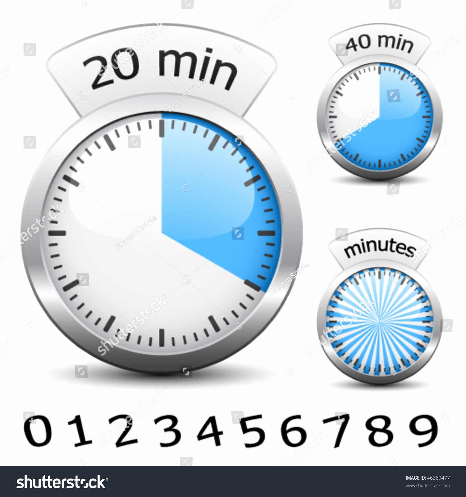 A Timer for 1 Minutes New Vector Timer Easy Change Time Every E Minute