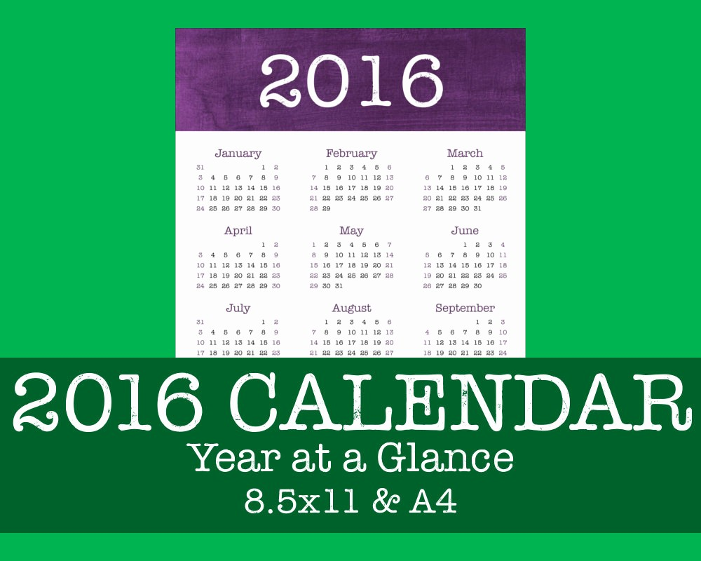 A Year at A Glance Awesome 2016 Year at A Glance Calendar Brushstrokes by Task Time