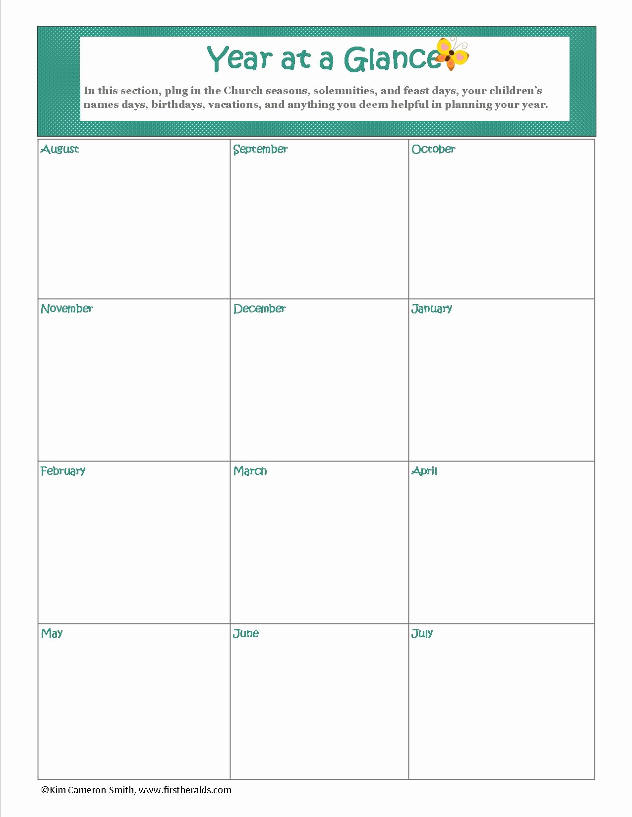 A Year at A Glance Awesome Planning Our Homeschool Year