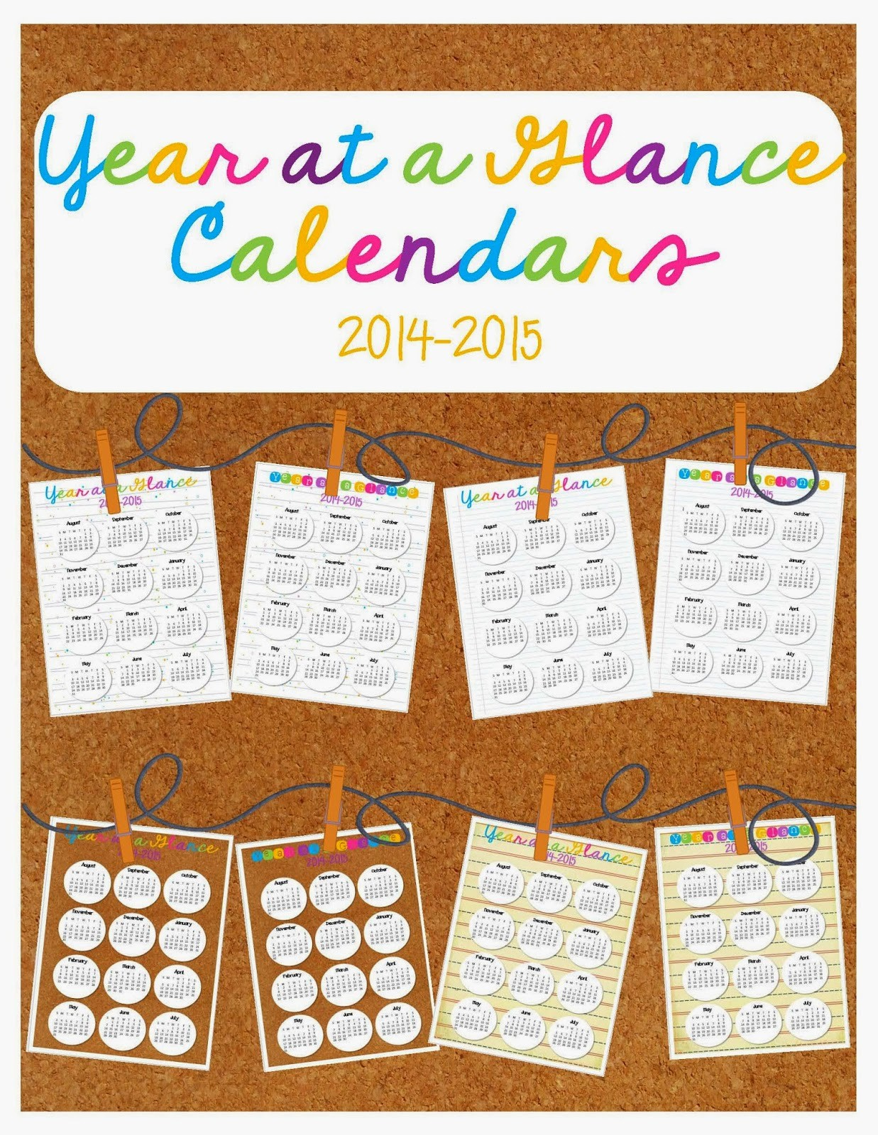 A Year at A Glance Awesome totally Terrific In Texas Year at A Glance Calendars