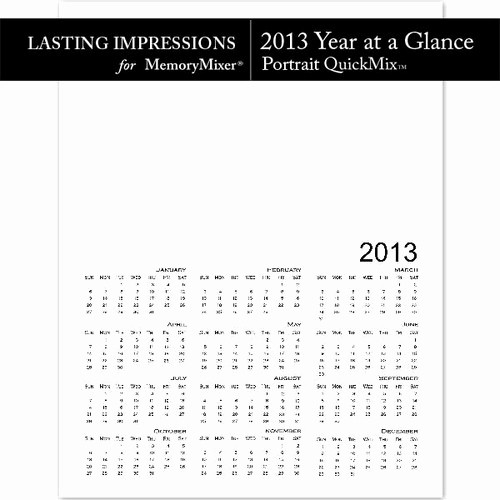 A Year at A Glance Inspirational 2013 Calendar Year at A Glance Pt Template Quickmi