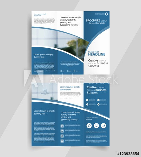 A4 Tri Fold Brochure Template Awesome Business Tri Fold Brochure Layout Design Vector A4