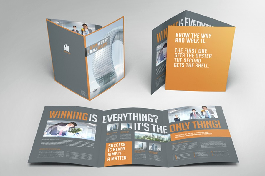 A4 Tri Fold Brochure Template Awesome Design Professional and Eye Catching Print Ready Bio Fold